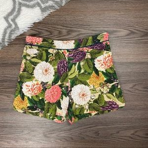 Anthro Elevenses Floral Shorts Size 4